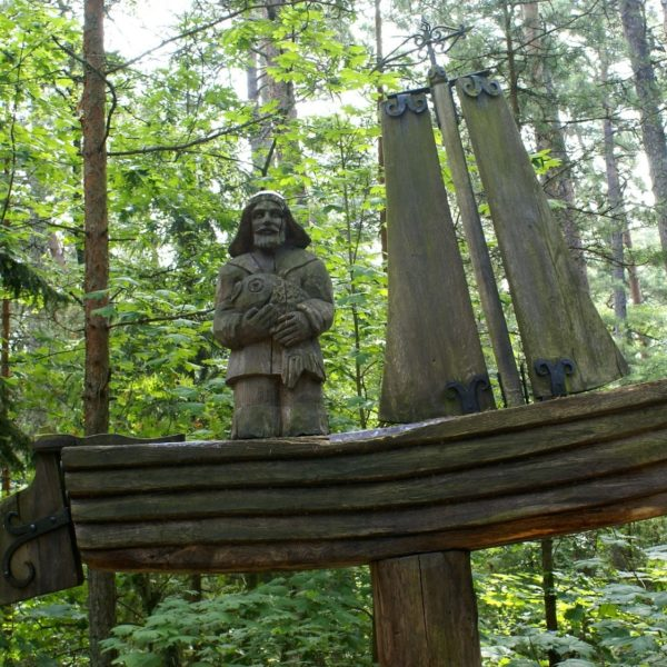 Wooden figure on the so-called Hill of Witches