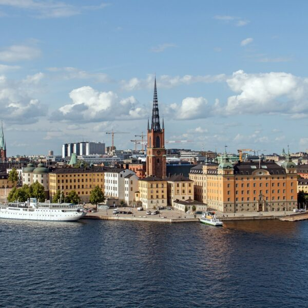 Panoramic view of the historical center in Stockholm