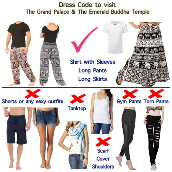 Please note the valid dress code before the shore excursion