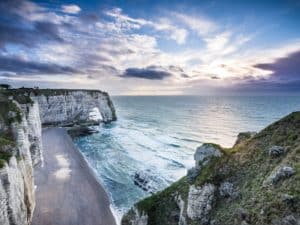 Chalk cliffs in Normandy
