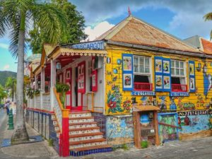 Colourful restaurant in Philipsburg